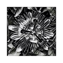 Black And White Passion Flower Passiflora  Acrylic Tangram Puzzle (6  X 6 ) by yoursparklingshop