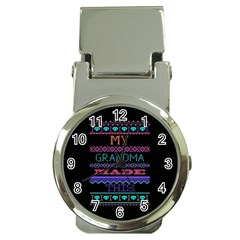 My Grandma Made This Ugly Holiday Black Background Money Clip Watches by Onesevenart