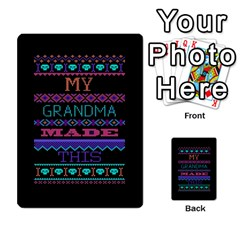 My Grandma Made This Ugly Holiday Black Background Multi Purpose Cards (rectangle)  by Onesevenart