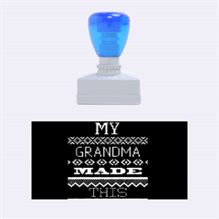 My Grandma Made This Ugly Holiday Black Background Rubber Stamps (medium)  by Onesevenart