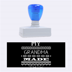 My Grandma Made This Ugly Holiday Black Background Rubber Stamps (large) by Onesevenart
