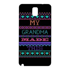 My Grandma Made This Ugly Holiday Black Background Samsung Galaxy Note 3 N9005 Hardshell Back Case by Onesevenart