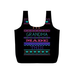 My Grandma Made This Ugly Holiday Black Background Full Print Recycle Bags (s)  by Onesevenart