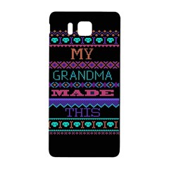 My Grandma Made This Ugly Holiday Black Background Samsung Galaxy Alpha Hardshell Back Case by Onesevenart