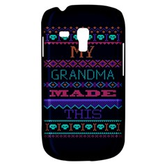 My Grandma Made This Ugly Holiday Blue Background Samsung Galaxy S3 Mini I8190 Hardshell Case by Onesevenart