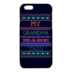 My Grandma Made This Ugly Holiday Blue Background iPhone 6/6S TPU Case by Onesevenart