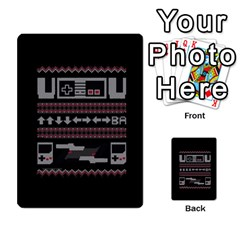 Old School Ugly Holiday Christmas Black Background Multi Purpose Cards (rectangle)  by Onesevenart