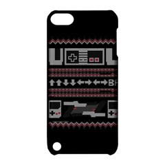 Old School Ugly Holiday Christmas Black Background Apple Ipod Touch 5 Hardshell Case With Stand by Onesevenart