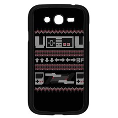 Old School Ugly Holiday Christmas Black Background Samsung Galaxy Grand Duos I9082 Case (black) by Onesevenart