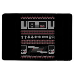 Old School Ugly Holiday Christmas Black Background Ipad Air 2 Flip by Onesevenart