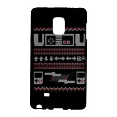 Old School Ugly Holiday Christmas Black Background Galaxy Note Edge by Onesevenart