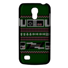 Old School Ugly Holiday Christmas Green Background Galaxy S4 Mini by Onesevenart