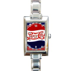 Pepsi Cola Rectangle Italian Charm Watch by Onesevenart