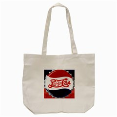 Pepsi Cola Tote Bag (cream) by Onesevenart