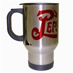 Pepsi Cola Travel Mug (silver Gray) by Onesevenart