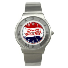 Pepsi Cola Stainless Steel Watch by Onesevenart