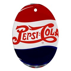 Pepsi Cola Oval Ornament (two Sides) by Onesevenart