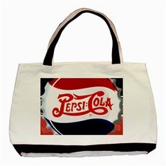Pepsi Cola Basic Tote Bag (two Sides) by Onesevenart