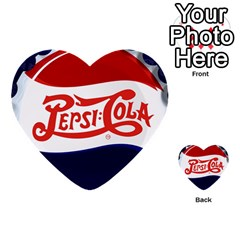 Pepsi Cola Multi Purpose Cards (heart)  by Onesevenart