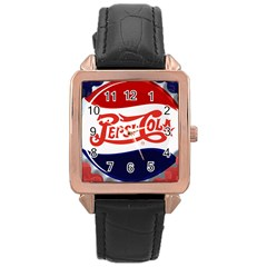 Pepsi Cola Rose Gold Leather Watch  by Onesevenart