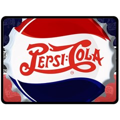 Pepsi Cola Double Sided Fleece Blanket (large)  by Onesevenart