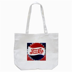 Pepsi Cola Tote Bag (white) by Onesevenart