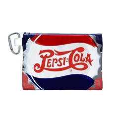 Pepsi Cola Canvas Cosmetic Bag (m) by Onesevenart