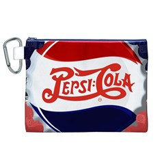 Pepsi Cola Canvas Cosmetic Bag (xl) by Onesevenart