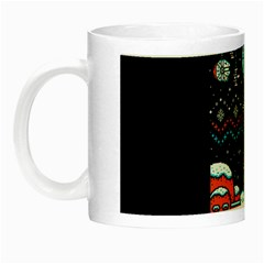 That Snow Moon Star Wars  Ugly Holiday Christmas Black Background Night Luminous Mugs by Onesevenart