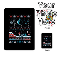 That Snow Moon Star Wars  Ugly Holiday Christmas Black Background Multi Purpose Cards (rectangle)  by Onesevenart