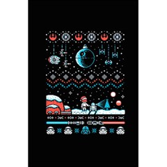 That Snow Moon Star Wars  Ugly Holiday Christmas Black Background 5 5  X 8 5  Notebooks by Onesevenart