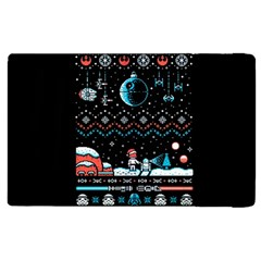 That Snow Moon Star Wars  Ugly Holiday Christmas Black Background Apple Ipad 2 Flip Case by Onesevenart