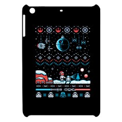 That Snow Moon Star Wars  Ugly Holiday Christmas Black Background Apple Ipad Mini Hardshell Case by Onesevenart