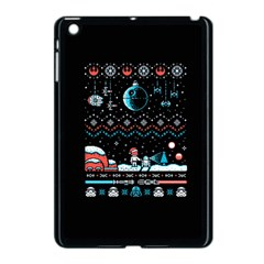 That Snow Moon Star Wars  Ugly Holiday Christmas Black Background Apple Ipad Mini Case (black) by Onesevenart