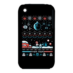 That Snow Moon Star Wars  Ugly Holiday Christmas Black Background Apple Iphone 3g/3gs Hardshell Case (pc+silicone) by Onesevenart