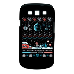 That Snow Moon Star Wars  Ugly Holiday Christmas Black Background Samsung Galaxy S Iii Classic Hardshell Case (pc+silicone) by Onesevenart