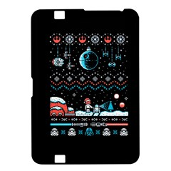 That Snow Moon Star Wars  Ugly Holiday Christmas Black Background Kindle Fire Hd 8 9  by Onesevenart