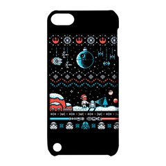 That Snow Moon Star Wars  Ugly Holiday Christmas Black Background Apple iPod Touch 5 Hardshell Case with Stand by Onesevenart