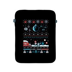 That Snow Moon Star Wars  Ugly Holiday Christmas Black Background Apple Ipad 2/3/4 Protective Soft Cases by Onesevenart