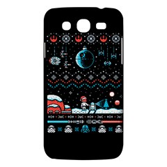 That Snow Moon Star Wars  Ugly Holiday Christmas Black Background Samsung Galaxy Mega 5 8 I9152 Hardshell Case  by Onesevenart