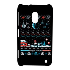 That Snow Moon Star Wars  Ugly Holiday Christmas Black Background Nokia Lumia 620 by Onesevenart
