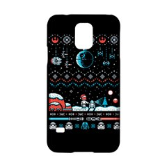 That Snow Moon Star Wars  Ugly Holiday Christmas Black Background Samsung Galaxy S5 Hardshell Case  by Onesevenart