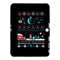 That Snow Moon Star Wars  Ugly Holiday Christmas Black Background Samsung Galaxy Tab 4 (10 1 ) Hardshell Case  by Onesevenart