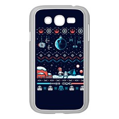 That Snow Moon Star Wars  Ugly Holiday Christmas Blue Background Samsung Galaxy Grand Duos I9082 Case (white) by Onesevenart