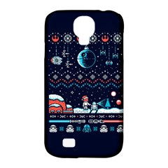 That Snow Moon Star Wars  Ugly Holiday Christmas Blue Background Samsung Galaxy S4 Classic Hardshell Case (pc+silicone) by Onesevenart