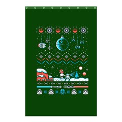 That Snow Moon Star Wars  Ugly Holiday Christmas Green Background Shower Curtain 48  X 72  (small)  by Onesevenart