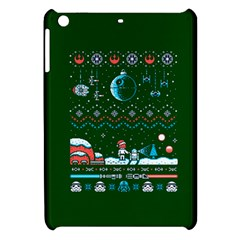 That Snow Moon Star Wars  Ugly Holiday Christmas Green Background Apple Ipad Mini Hardshell Case by Onesevenart