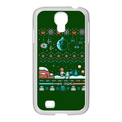That Snow Moon Star Wars  Ugly Holiday Christmas Green Background Samsung Galaxy S4 I9500/ I9505 Case (white) by Onesevenart