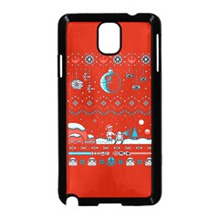 That Snow Moon Star Wars  Ugly Holiday Christmas Red Background Samsung Galaxy Note 3 Neo Hardshell Case (black) by Onesevenart