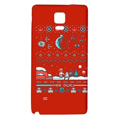 That Snow Moon Star Wars  Ugly Holiday Christmas Red Background Galaxy Note 4 Back Case by Onesevenart